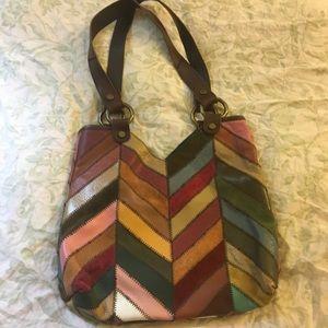 EUC Lucky Brand leather/suede handbag